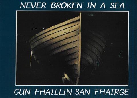 'Never Broken in a Sea' book